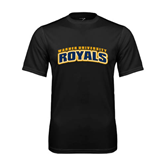 Performance Black Tee-Arched Warner University Royals
