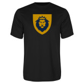 Performance Black Tee-Lion Head Shield