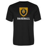 Performance Black Tee-Baseball