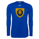Under Armour Royal Long Sleeve Tech Tee-Lion Head Shield