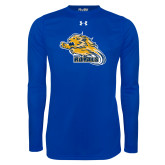 Under Armour Royal Long Sleeve Tech Tee-Flying Lion
