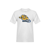 Youth White T Shirt-Warner Royals w/ Lion
