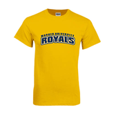 Gold T Shirt-Arched Warner University Royals