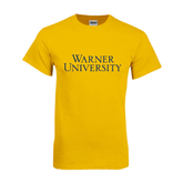 Gold T Shirt-Warner University Stacked