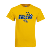 Gold T Shirt-Soccer Swoosh Design