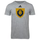 Adidas Sport Grey Logo T Shirt-Lion Head Shield