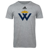 Adidas Sport Grey Logo T Shirt-W Crown