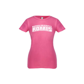 Youth Girls Fuchsia Fashion Fit T Shirt-Arched Warner University Royals