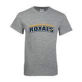 Grey T Shirt-Arched Warner University Royals