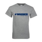 Grey T Shirt-Warner University Royals w/ Lion Head