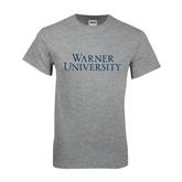 Grey T Shirt-Warner University Stacked
