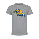 Youth Grey T-Shirt-Warner Royals w/ Lion
