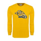 Gold Long Sleeve T Shirt-Warner Royals w/ Lion