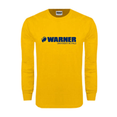 Gold Long Sleeve T Shirt-Warner University Royals w/ Lion Head