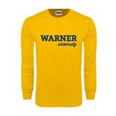 Gold Long Sleeve T Shirt-Warner University
