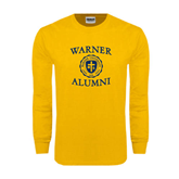 Gold Long Sleeve T Shirt-Warner Alumni