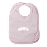 Light Pink Baby Bib-Arched Warner University Royals
