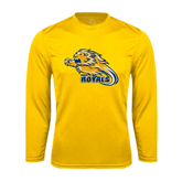 Performance Gold Longsleeve Shirt-Warner Royals w/ Lion