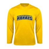 Performance Gold Longsleeve Shirt-Arched Warner University Royals