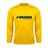 Performance Gold Longsleeve Shirt-Warner University Royals w/ Lion Head