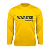 Performance Gold Longsleeve Shirt-Warner University