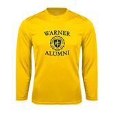 Performance Gold Longsleeve Shirt-Warner Alumni