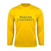 Syntrel Performance Gold Longsleeve Shirt-Warner University Stacked