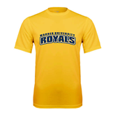Performance Gold Tee-Arched Warner University Royals