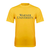 Performance Gold Tee-Warner University Stacked