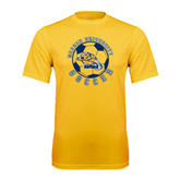 Performance Gold Tee-Soccer Circle Design