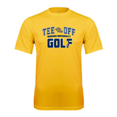 Performance Gold Tee-Track and Field Design