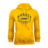 Gold Fleece Hoodie-Warner University Football Design