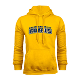 Gold Fleece Hoodie-Arched Warner University Royals