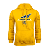 Gold Fleece Hoodie-Track and Field Design