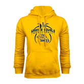 Gold Fleece Hoodie-Basketball In Ball