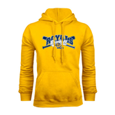 Gold Fleece Hoodie-Baseball Crossed Bats