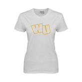 Ladies White T Shirt-WU