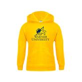 Youth Gold Fleece Hood-Official Logo