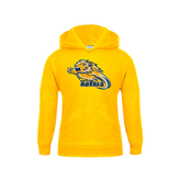 Youth Gold Fleece Hoodie-Warner Royals w/ Lion