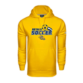 Under Armour Gold Performance Sweats Team Hood-Soccer Swoosh Design