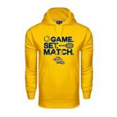 Under Armour Gold Performance Sweats Team Hood-Game. Set. Match. Tennis Design