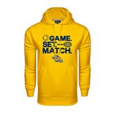 Under Armour Gold Performance Sweats Team Hoodie-Game. Set. Match. Tennis Design