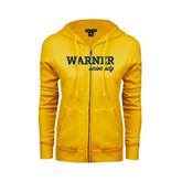 ENZA Ladies Gold Fleece Full Zip Hoodie-Warner University