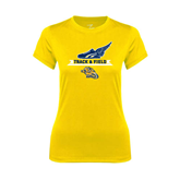 Ladies Syntrel Performance Gold Tee-Track and Field Design