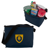 Six Pack Navy Cooler-Lion Head Shield