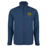 Navy Softshell Jacket-Lion Head Shield