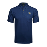 Navy Easycare Pique Polo w/ Pocket-Warner Royals w/ Lion