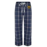 Navy/White Flannel Pajama Pant-Lion Head Shield