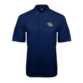 Navy Easycare Pique Polo-Warner Royals w/ Lion