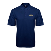 Navy Easycare Pique Polo-Arched Warner University Royals